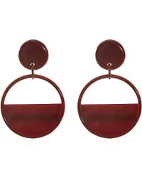 Marni | Red Round Resin Earrings - For Women | Lyst