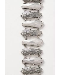 Nicole Romano - Metallic Chiseled Links Bracelet - Lyst