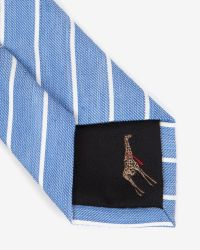 Ted Baker - Blue Stripe Tie for Men - Lyst