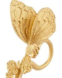 Valentino | Metallic Gold-plated Three-finger Butterfly Ring | Lyst
