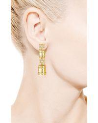 Faraone Mennella | Metallic 18k Yellow Gold Bullet Earrings with White Diamonds | Lyst