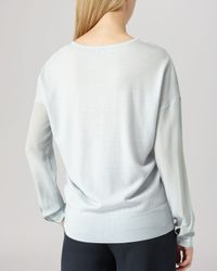 Reiss - Natural Sweater - Rivers Wool With Silk Sleeve - Lyst