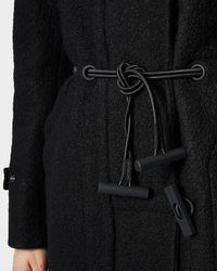 HUNTER - Black Women's Original Wool Duffle Coat - Lyst