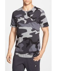 Nike - Black 'futura Sportswear - Camo' T-shirt for Men - Lyst