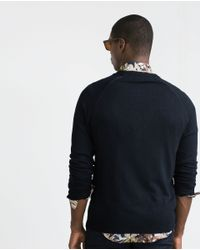 Zara | Blue Viscose Cardigan for Men | Lyst