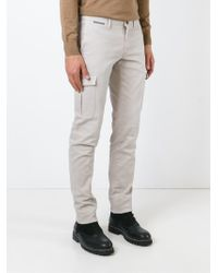 Eleventy Natural Chino Cargo Trousers for men