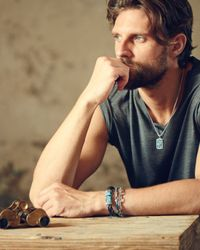 John Hardy - Metallic Large Turquoise Dog Tag Pendant for Men - Lyst