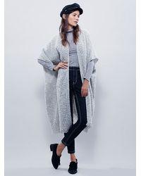 Free People | White Weekend Boucle Kimono | Lyst