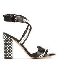 Alberto Guardiani - Black Crossover Strap Sandal - Lyst