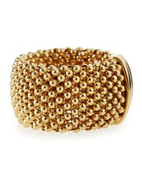 Roberto Coin - 18k Yellow Gold Mesh Ring Size 65 - Lyst