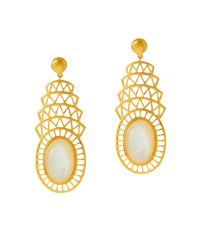 Alexandra Alberta - Metallic Khrysler Pearl Earrings - Lyst