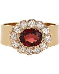 Renee Lewis | Red Diamond & Gemstone Ring-Colorless | Lyst