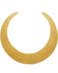 Herve Van Der Straeten - Metallic Gold-Plated Curved Collar Necklace - Lyst