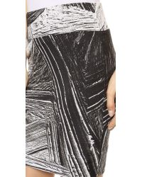 Helmut Lang | Method Print Skirt - Black Multi | Lyst