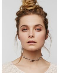 Free People - Metallic Sasha Moonstone Choker - Lyst