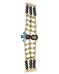 Sam Edelman | Multicolor Stone Mesh Bracelet | Lyst