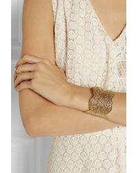 Aurelie Bidermann - Metallic Vintage Lace Rose Gold Plated Cuff - Lyst