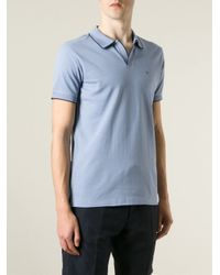 Emporio Armani - Blue Piped Polo Shirt for Men - Lyst