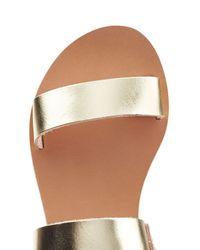 Ancient Greek Sandals - Metallic Clio Leather Sandals - Silver - Lyst