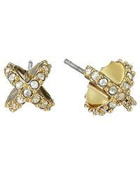 Alexis Bittar | Metallic Encrusted Criss Cross Stud Post Earrings | Lyst