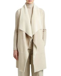 Lafayette 148 New York | Natural Carolina Oversized Shearling Vest | Lyst