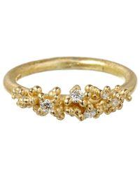 Ruth Tomlinson - Metallic Gold Diamond Granule Ring - Lyst