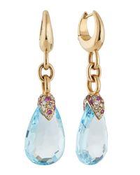 Pomellato - Metallic Pin Up Blue Topaz Drop Earrings - Lyst
