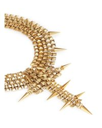 Ela Stone | Metallic Marla Spike Pyramid Chain Plastron Necklace | Lyst