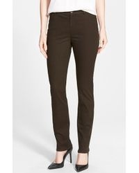 Lafayette 148 New York | Brown Snake Jacquard Curvy Fit Slim Leg Jeans | Lyst