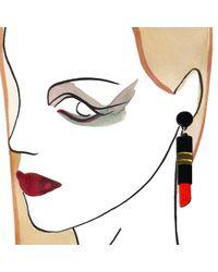 Yazbukey | Red Lipstick Earrings | Lyst