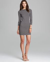 French Connection - Black Dress French Stripe - Lyst