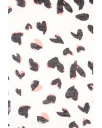 Oasis - Multicolor Mono Heart Scarf - Lyst