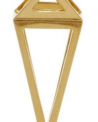 Noor Fares - Metallic Pendulum 3D Earrings In 18K Yellow Gold - Lyst