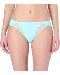 Wacoal | Blue High-waisted Mesh Briefs | Lyst