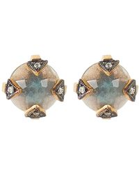 Cathy Waterman - Metallic Gemstone Studs - Lyst