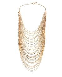 BCBGMAXAZRIA - Metallic Draped Filigree Chain Necklace - Lyst