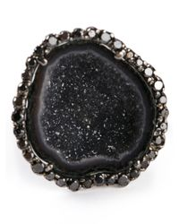 Kimberly Mcdonald - Black Geode Ring - Lyst