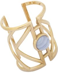 Pamela Love - Lace Blue Agatecentered Pathway Cuff - Lyst