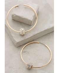 Anthropologie | Metallic Jeweled Orbit Hoops | Lyst