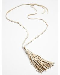 Free People | Metallic Leather Tassel Pendant | Lyst