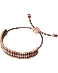 Links of London | Pink 18ct Rose Gold-plated Friendship Bracelet - For Women | Lyst