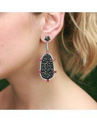 Inbar - Carved Black Jade Earrings - Lyst