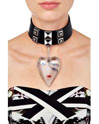 Delfina Delettrez - Metallic Clear Resin/Silver/Enamel Heart Pendant - Lyst