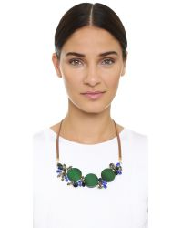 Marni | Brown Strass Necklace - Emerald | Lyst