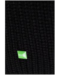 BOSS Green | Black Wool-blend Scarf 'allen' for Men | Lyst