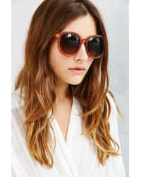 Urban Outfitters | Brown Double Layer Oversized Round Sunglasses | Lyst