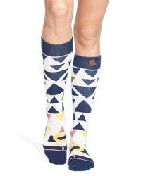Stance - Blue 'just Try It' Geo Print Snowboard Socks - Lyst