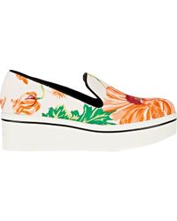 Stella McCartney | White Women's Floral Binx Slip-on Platform Sneakers | Lyst