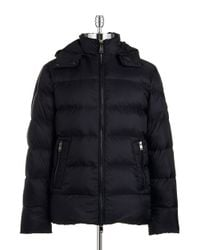 Michael Kors | Blue Quilted Down Jacket for Men | Lyst