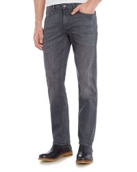 7 For All Mankind | Gray `slimmy` Luxe Performance Grey Stretch Jeans for Men | Lyst